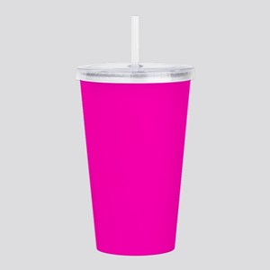 Neon Pink Solid Color Acrylic Double-wall Tumbler