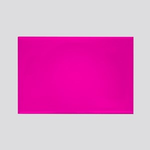 Neon Pink Solid Color Magnets