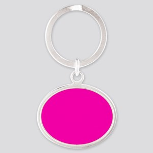 Neon Pink Solid Color Keychains