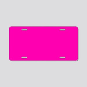 Neon Pink Solid Color Aluminum License Plate