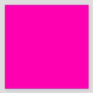 "Neon Pink Solid Color Square Car Magnet 3"" x 3"""
