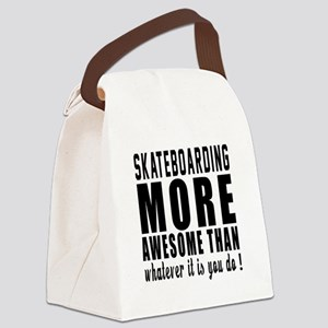 Skateboarding More Awesome Design Canvas Lunch Bag