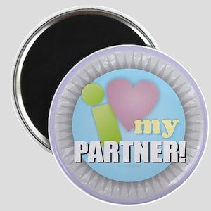 I Love My Partner Magnets