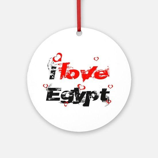 I Love Egypt Ornament (Round)