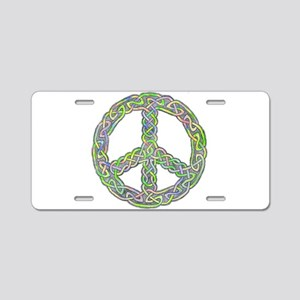 Celtic Peace! Aluminum License Plate