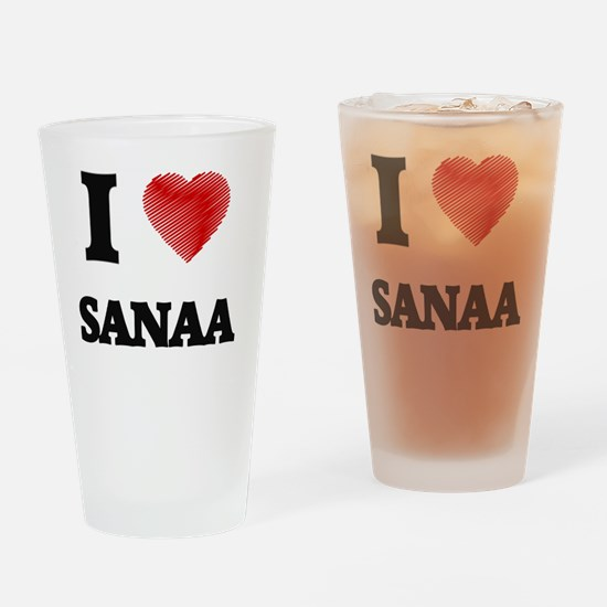 I Love Sanaa Drinking Glass