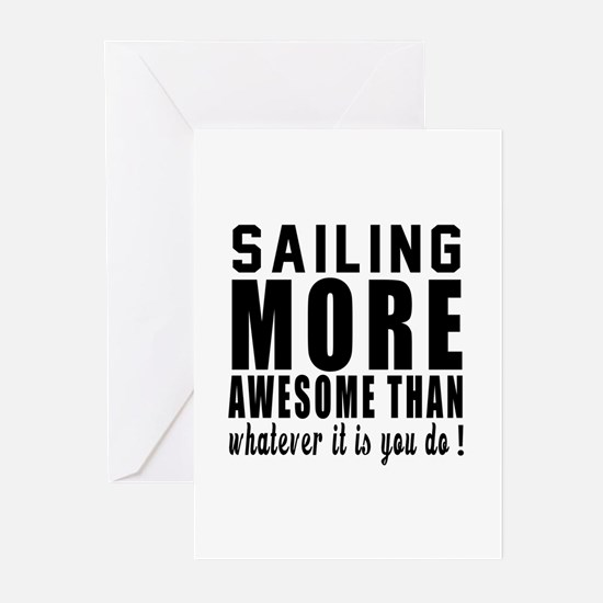 Sailing More Awesome Des Greeting Cards (Pk of 10)