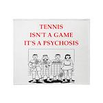 tennis joke Throw Blanket