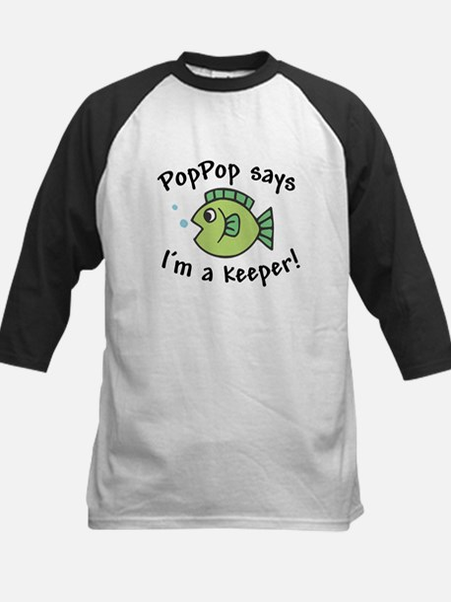 PopPop Says I'm a Keeper Kids Baseball Jersey