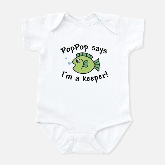 PopPop Says I'm a Keeper Baby Onesie