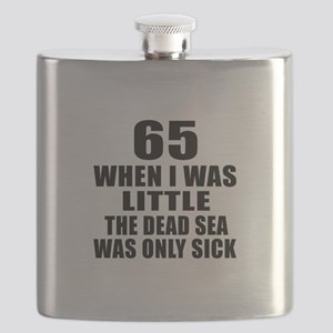 65 When I Was Little Birthday Flask