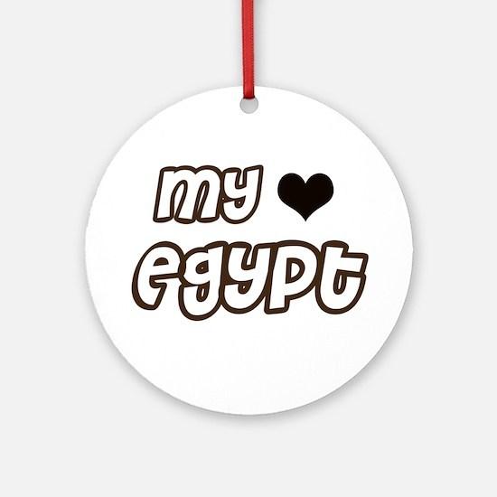 My heart Egypt Ornament (Round)
