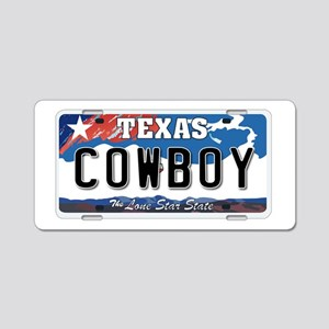 Texas - Cowboy Aluminum License Plate