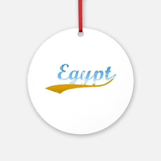 Beach Colored Egypt Ornament (Round)