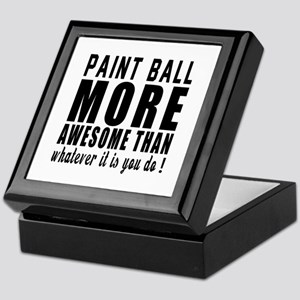 Paint Ball More Awesome Designs Keepsake Box