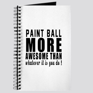 Paint Ball More Awesome Designs Journal