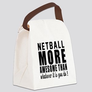 Netball More Awesome Designs Canvas Lunch Bag