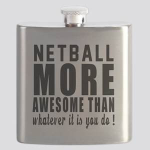 Netball More Awesome Designs Flask