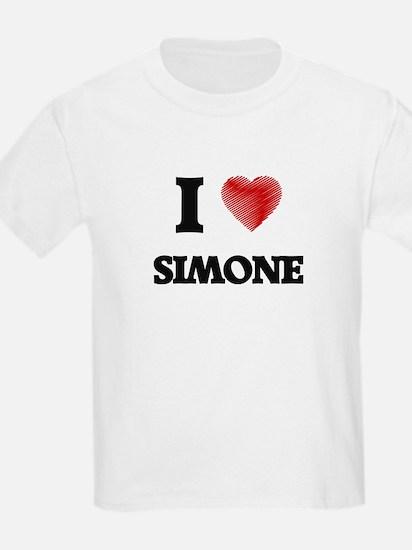 I Love Simone T-Shirt