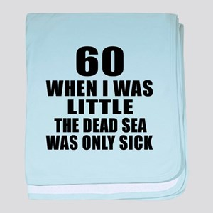 60 When I Was Little Birthday baby blanket
