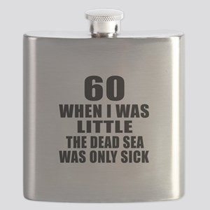60 When I Was Little Birthday Flask
