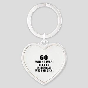 60 When I Was Little Birthday Heart Keychain