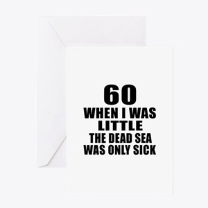 60 When I Was Little Birthday Greeting Card