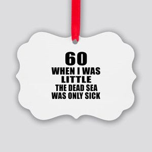 60 When I Was Little Birthday Picture Ornament