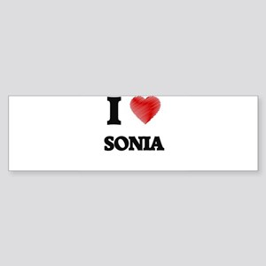 I Love Sonia Bumper Sticker