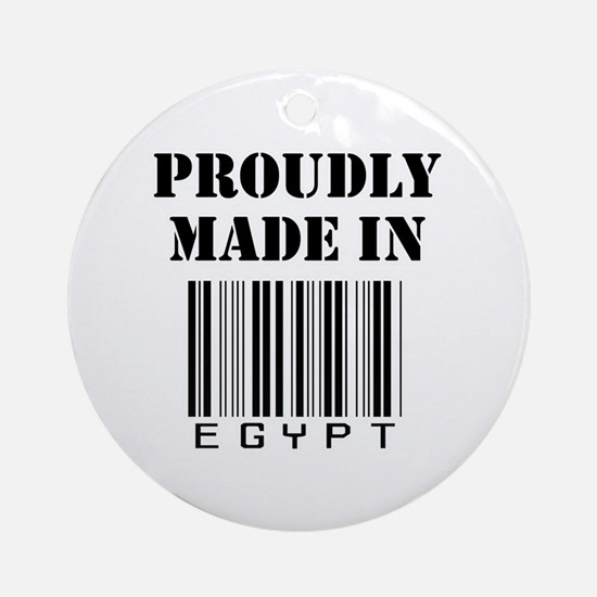 Proudly Made in Egypt Ornament (Round)