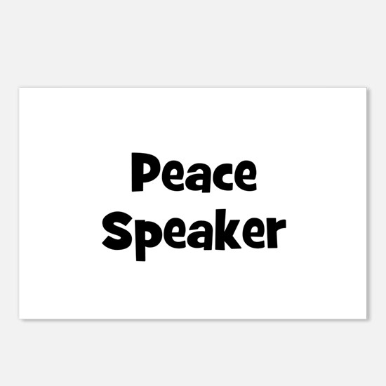 Peace Speaker Postcards (Package of 8)