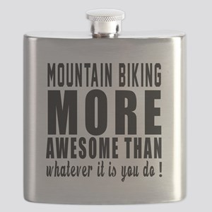 Mountain Biking More Awesome Designs Flask