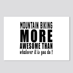 Mountain Biking More Awes Postcards (Package of 8)