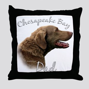 Chessie Dad2 Throw Pillow