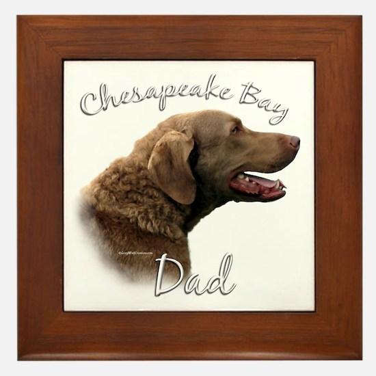 Chessie Dad2 Framed Tile