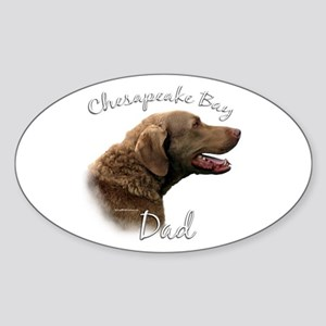 Chessie Dad2 Oval Sticker