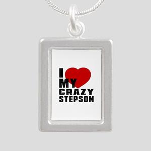 I Love Stepson Silver Portrait Necklace