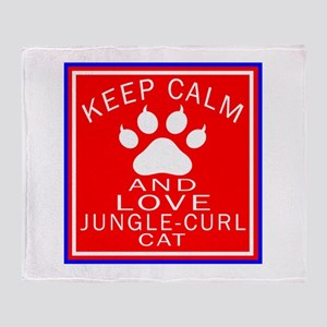 Keep Calm And Jungle-curl Cat Throw Blanket