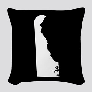 delaware white black Woven Throw Pillow