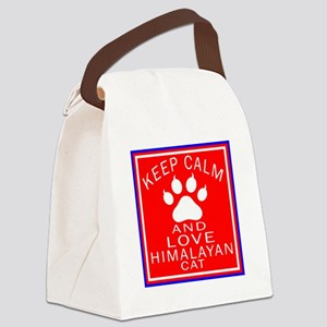 Keep Calm And Himalayan Cat Canvas Lunch Bag