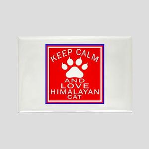Keep Calm And Himalayan Cat Rectangle Magnet