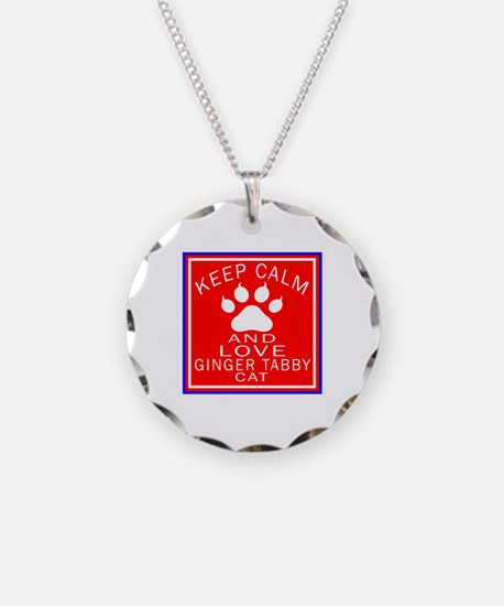 Keep Calm And Ginger tabby C Necklace