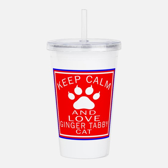 Keep Calm And Ginger t Acrylic Double-wall Tumbler