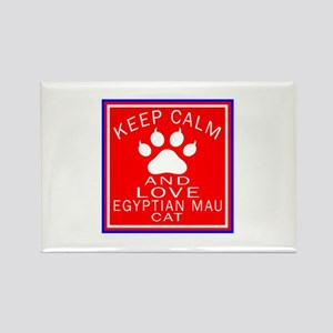 Keep Calm And Egyptian Mau Cat Rectangle Magnet