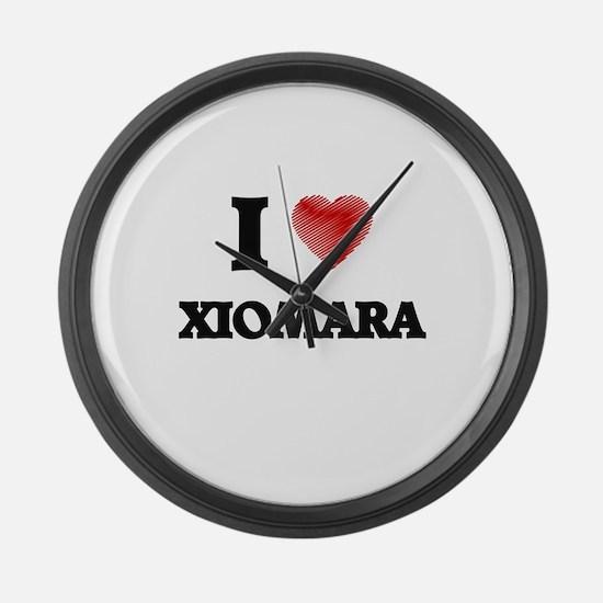 I Love Xiomara Large Wall Clock