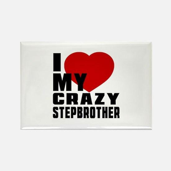 I Love Stepbrother Rectangle Magnet (100 pack)