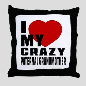 I Love paternal Grandfather Throw Pillow