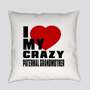 I Love paternal Grandfather Everyday Pillow