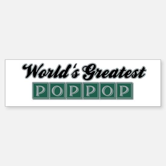 World's Greatest PopPop (3) Bumper Bumper Bumper Sticker