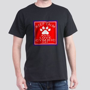 Keep Calm And Cymric Cat Dark T-Shirt